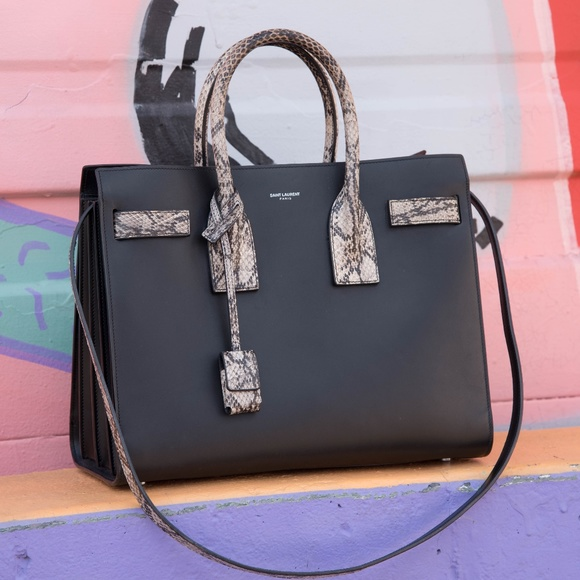 45ca97b57351 Saint Laurent Sac de Jour Small Python Bag. M 5aac289505f43050871e5d1f.  Other Bags you may like. Authentic YSL Patent Leather ...